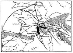 Figure 17 from Fernand Braudel's The Mediterranean and the Mediterranean World in the Age of Philip II.
